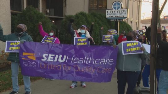 Entering second week, Chicago area nursing home worker strike continues