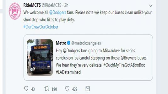 Twitter war on between MCTS and Metro Los Angeles
