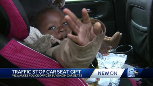 Police officer surprises mom of 5 with gift instead of ticket