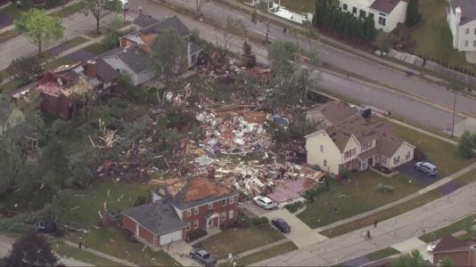 From our vantage point: SkyCam9 flys over aftermath of EF-3 twister