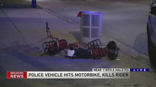 Man on motorbike struck, killed by police vehicle in West Pullman