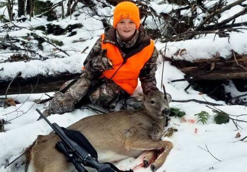 9-year-old hunter gets his first deer