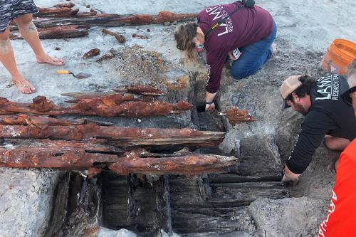 Mysterious shipwreck that may date back to 1800s emerges on Florida beach