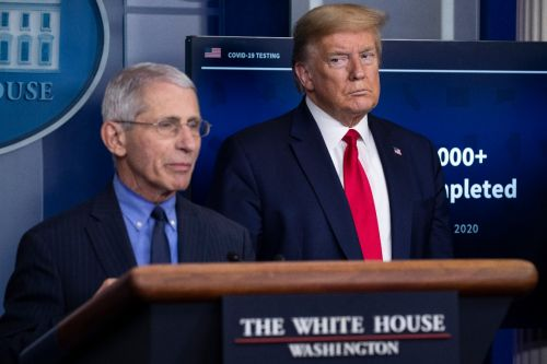 Trump ties Fauci to Biden - to Biden's delight