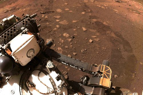 NASA's Perseverance rover takes first drive on Mars