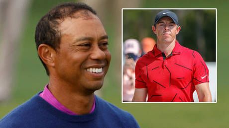 Tiger Woods praises 'really touching' red-and-black tribute from stars after golf icon was badly injured in high-speed car wreck