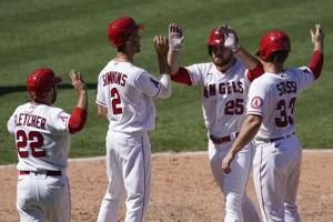 Jared Walsh's 1st grand slam powers Angels past Rangers, 8-5