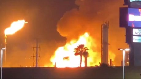 WATCH: Largest oil refinery on US West Coast erupts in flames