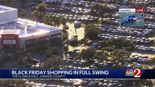 Video shows parking lots full in Central Florida on Black Friday