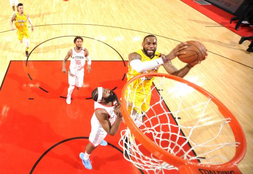 LeBron James propels Lakers past Rockets and James Harden
