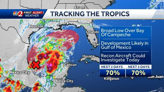 System likely to develop in the Gulf of Mexico, NHC says