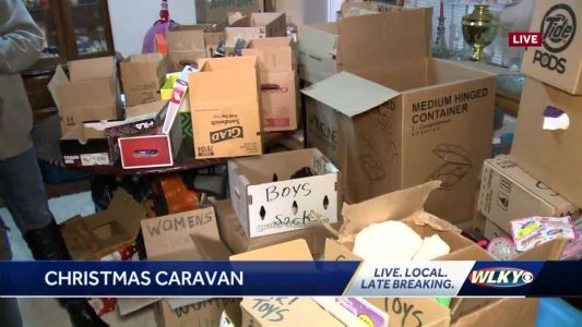 Annual Christmas Caravan collecting donations