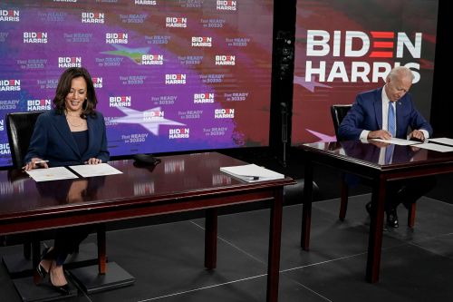 Joe Biden, Kamala Harris sign documents for Democratic nomination