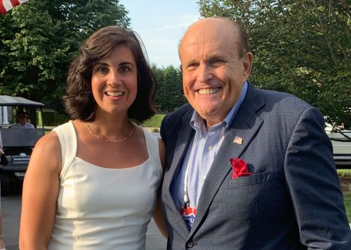 Nicole Malliotakis cozies up to Trump, Giuliani in the Hamptons
