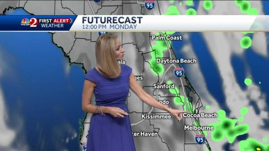 Hurricane Humberto moving away from Florida brings few showers to the coast