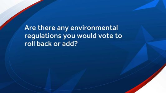 Environment: Would Republicans running for U.S. Senate in NH vote to add or roll back any particular regulations?