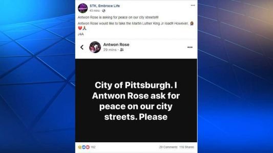 Local group shares social media post from Antwon Rose's father asking for 'peace on our city streets'