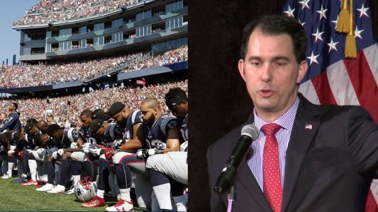 Gov. Walker calls on NFL players to stand for national anthem, starts political Twitter war