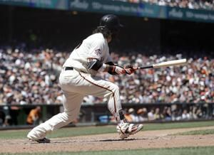 Crawford's 3 extra-base hits lead Giants over Padres 5-3