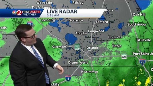 Rainy, cool day for Central Florida