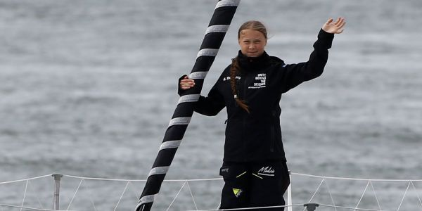 16-year-old Greta Thunberg is sailing 13 days across the Atlantic to speak at a climate conference in New York. Here's why she won't just dial in