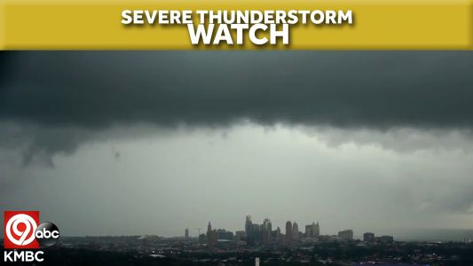 Severe thunderstorm watch issued as storms start to build Thursday afternoon