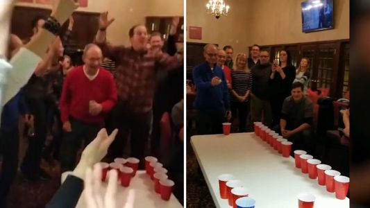 These 85-year-old twins destroy frat boys at their own game