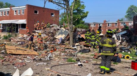 Gas explosion in Baltimore levels 3 homes; 1 killed, several injured