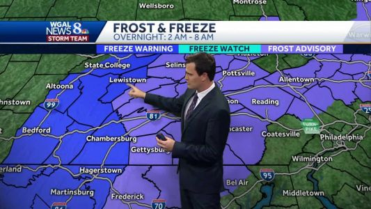 WATCH: Temperatures dropping to near freezing tonight