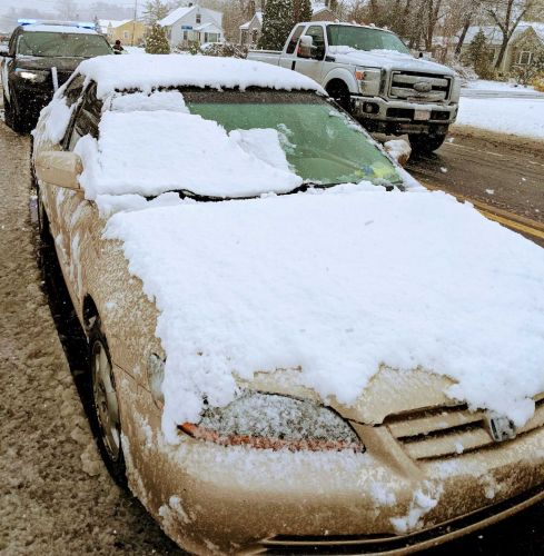 Driver stopped in April storm for not clearing snow off vehicle
