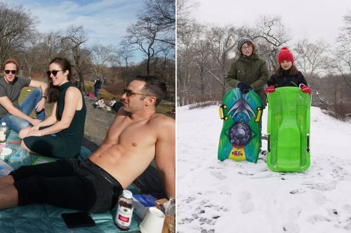 What a difference a week makes: Big Apple weather goes from balmy to brrr!