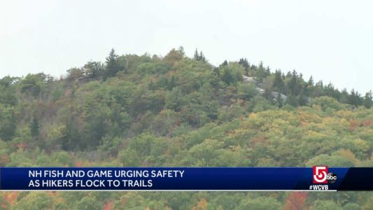 Officials urge safety as hikers flock to NH trails