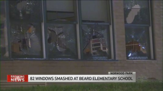 82 windows smashed at Beard Elementary School in Norwood Park