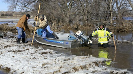 The Midwest Battles Historic Floods In The Aftermath Of 'Bomb Cyclone'