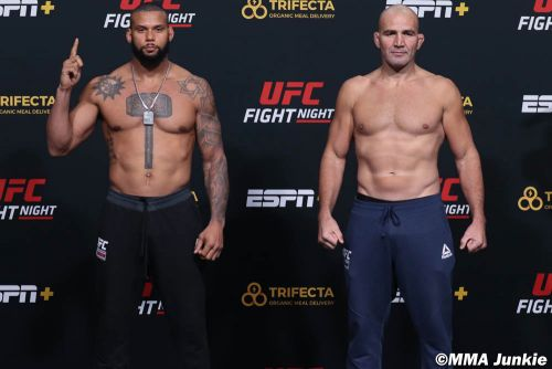 UFC on ESPN+ 40 faceoff video highlights, photo gallery
