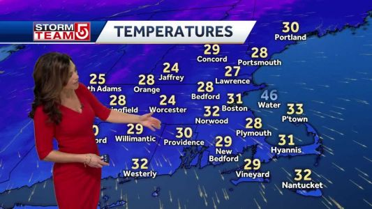Video: Bright sun, but chilly Thursday