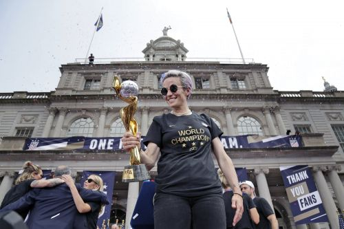 Megan Rapinoe delivers yet again for USWNT - this time with rousing parade speech