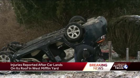 Police chase leads to crash in West Mifflin
