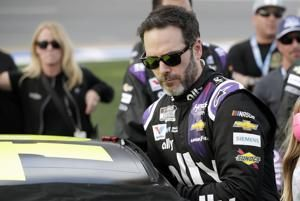 NASCAR races on at Indy after Johnson contracts coronavirus