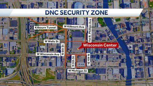 DNC: Vehicle restrictions in place in security zone; MCTS expects service delays