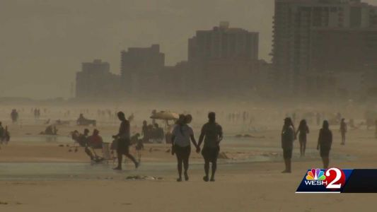 Many tourists enjoy holiday at beaches in Central Florida