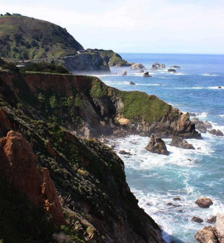 1 killed when car goes over cliff in Big Sur, small fire contained