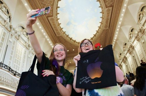 Check out a bustling Apple Tower Theatre on its opening day