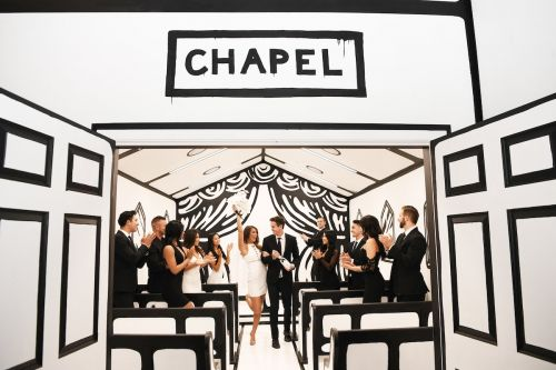 An artist is launching an Instagram-friendly black-and-white wedding chapel in Vegas where couples can get married and take photos from $250