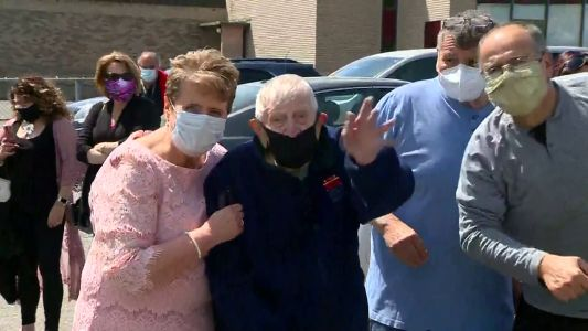 99-year-old veteran, COVID-19 survivor celebrates granddaughter's wedding