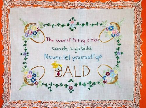 A woman is protesting Donald Trump by sewing his outrageous quotes into doilies and her designs are going viral