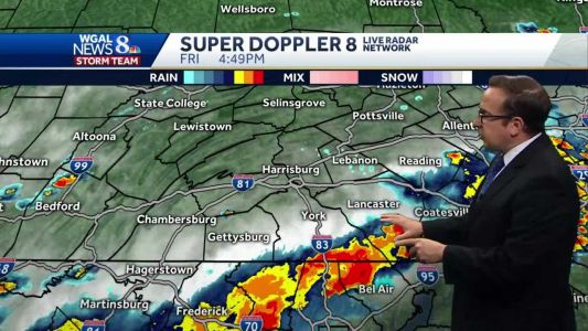 Scattered T'Storms Friday Evening; Flash Flood Watch In Effect