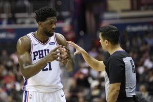 Embiid sits for 76ers vs. Hawks with sore left ankle