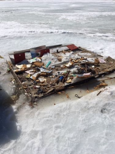 DNR Reminds Anglers To Pick Up Their Trash When Removing Ice Houses