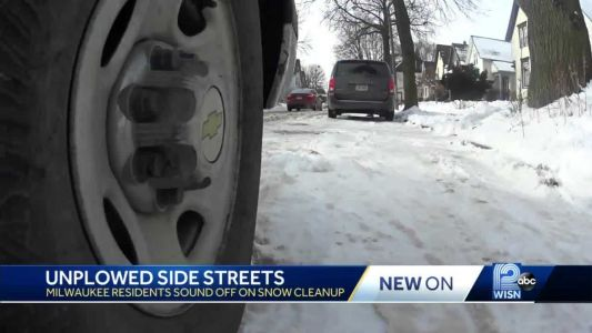 Some Milwaukee side streets still waiting for snow cleanup